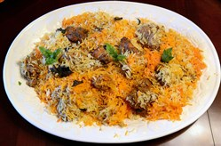 Chicken Biryani, a traditional dish prepared by Sadia Sabir, of Ross, for Eid -- the Islamic holiday marking the end of Ramadan.