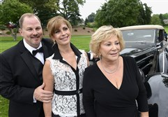 From left, Dan and Michelle Del Bianco and Mary Ann Smialek.
