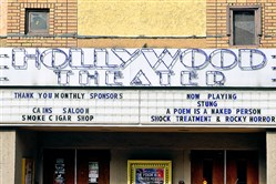 The outside of the Hollywood Theater on Potomac Avenue in Dormont.