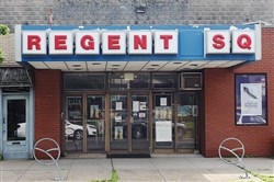 Regent Square Theater in Pittsburgh's Regent Square neighborhood.