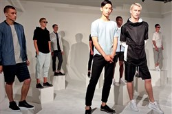 Sporty meets refined in Matiere spring/summer 2016 collection at New York Men's Day, which opened New York Fashion Week: Men's on Monday at Industria Superstudios in Manhattan's Meatpacking District.
