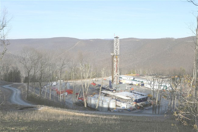 A well-site for Seneca Resources, Inc. in Loyalsock State Forest in Lycoming County.