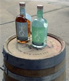Wigle  Barrel-Rested Ginever, left, and Ginever by Wigle Whiskey Barrelhouse.