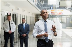 President Barack Obama took a tour Thursday of the medium-security El Reno Federal Correction Institute in Oklahoma.