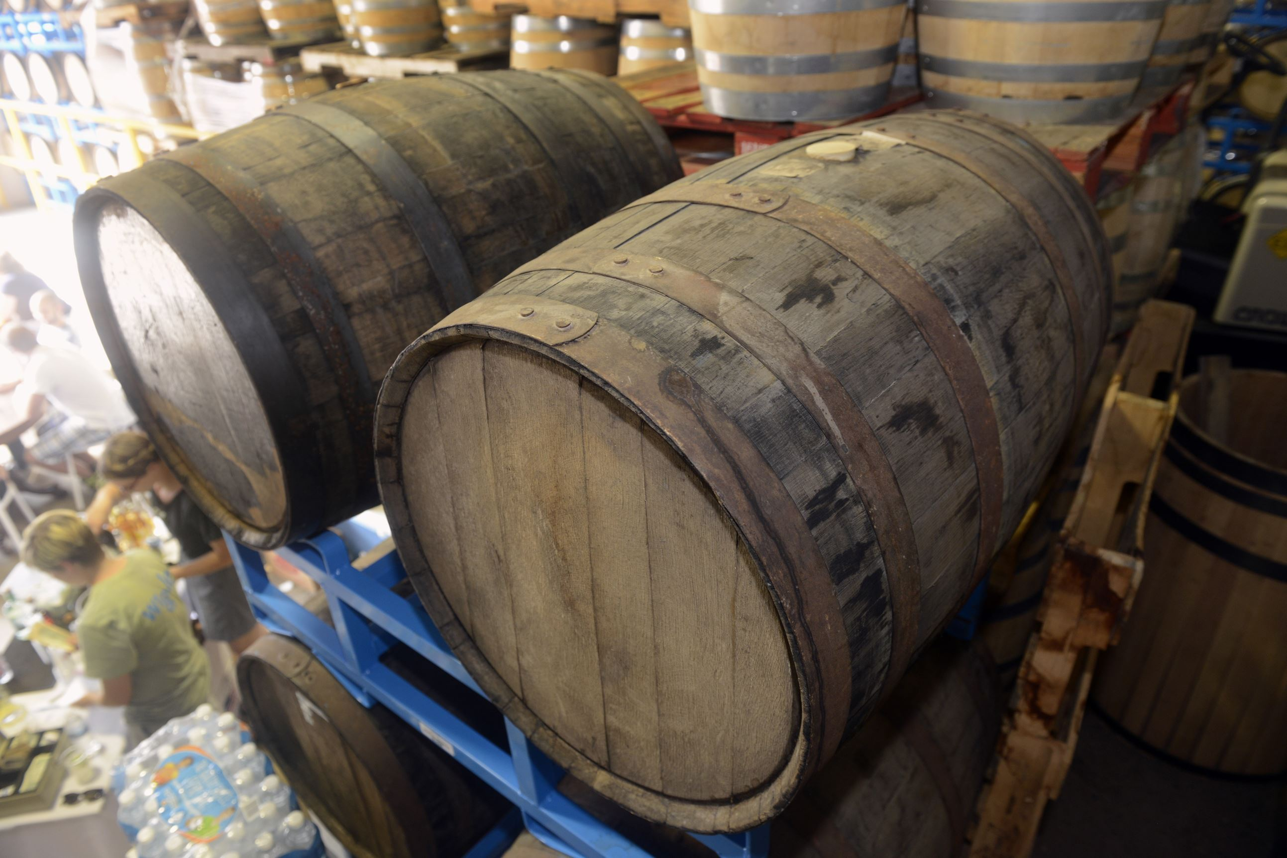 20150711bwGineverMag02x Assorted spirits age at Wigle Whiskey Barrelhouse on the North Side.