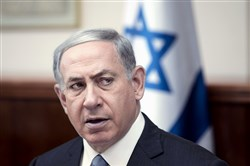 Israel's Prime Minister Benjamin Netanyahu speaks during the weekly cabinet meeting in Jerusalem, Sunday.