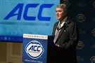 ACC commissioner John Swofford favors a measured approach to the creation of an ACC television network.