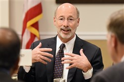 Gov. Tom Wolf speaks July 20 at a breakfast meeting of the Pittsburgh Technology Council at the Rivers Club.