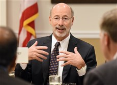 Gov. Tom Wolf said Pennsylvania needs a comprehensive approach to the state budget that boosts aid to public schools and closes a long-term budget deficit for good.