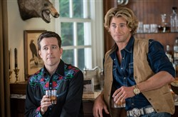 "Ed Helms as Rusty Griswold, and Chris Hemsworth as Stone Crandall, in ""Vacation."""