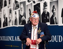 Vietnam veteran Ed Morrissey of Nevada attends the VFW National Convention at the David L. Lawrence Convention Center.