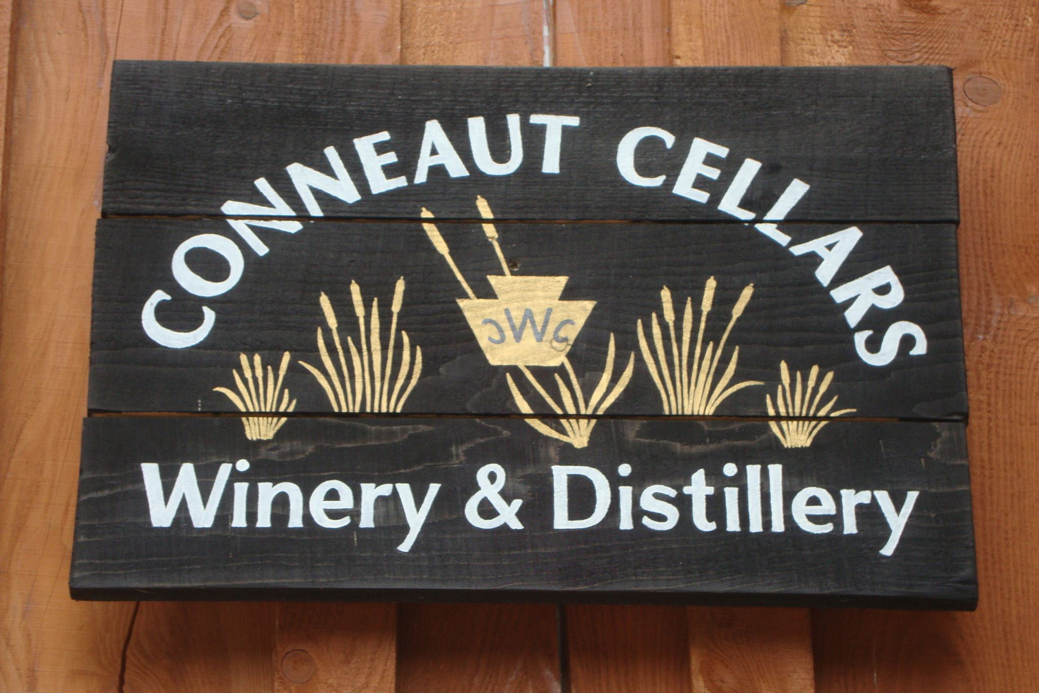 DoorSign-2 Door sign for Conneaut Cellars Winery & Distillery in Conneaut Lake.