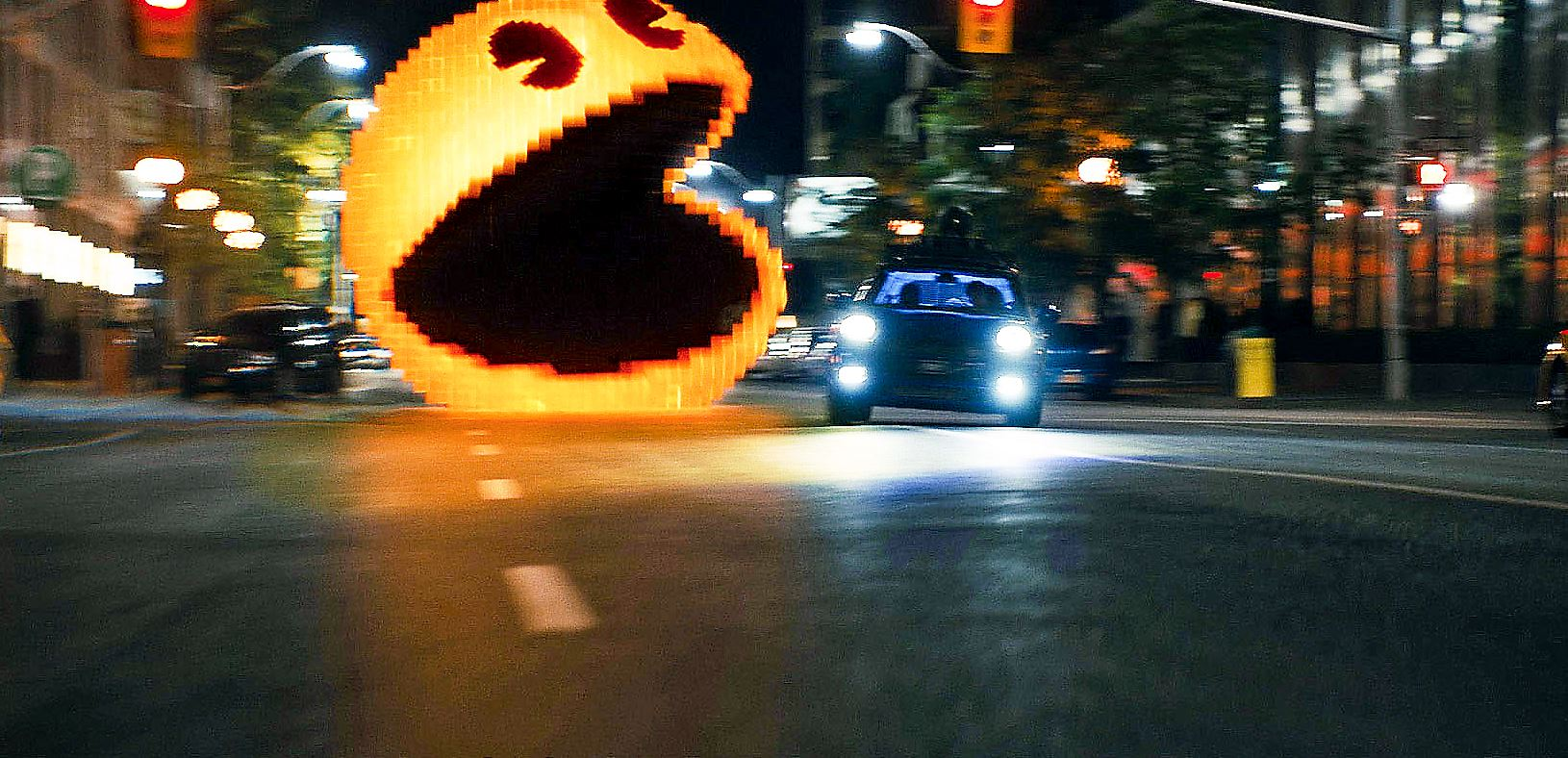 movie review pixels falls apart in the playing old