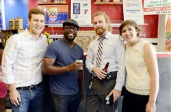 From left, Aaron Sukenik, executive director of Hilltop Alliance, Knowledge Hudson, Henry Pyatt and Siena Kane.