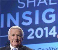 Tom Corbett shown here in 2014 as governor attended the Shale Insight conference at the David L. Lawrence Convention Center in Pittsburgh