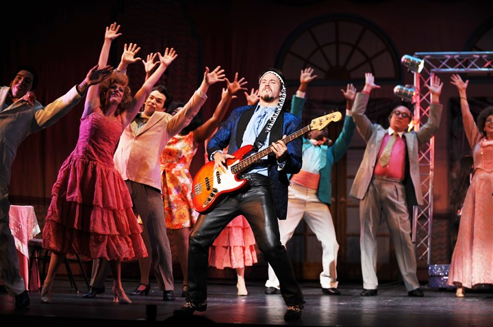 "2015CLOWeddingSingerCast0724 Pittsburgh CLO's ""The Wedding Singer,"" the musical based on the Adam Sandler-Drew Barrymore movie, brings back the moves of the 1980s."