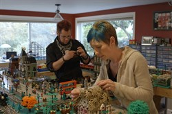 "Dave and Stacy Sterling create a world with Lego's in ""A Lego Brickumentary."""
