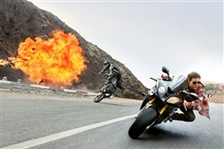 "Tom Cruise returns as Ethan Hunt (and does his own stunts) in ""Mission: Impossible -- Rogue Nation."""