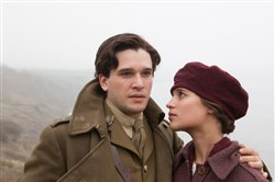 "In ""Testament of Youth,"" Kit Harington as Roland Leighton and Alicia Vikander as Vera Brittain find their love shattered by World War I."