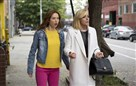 "Ellie Kemper, left, and Jane Krakowski in a scene from Netflix's ""Unbreakable Kimmy Schmidt."""