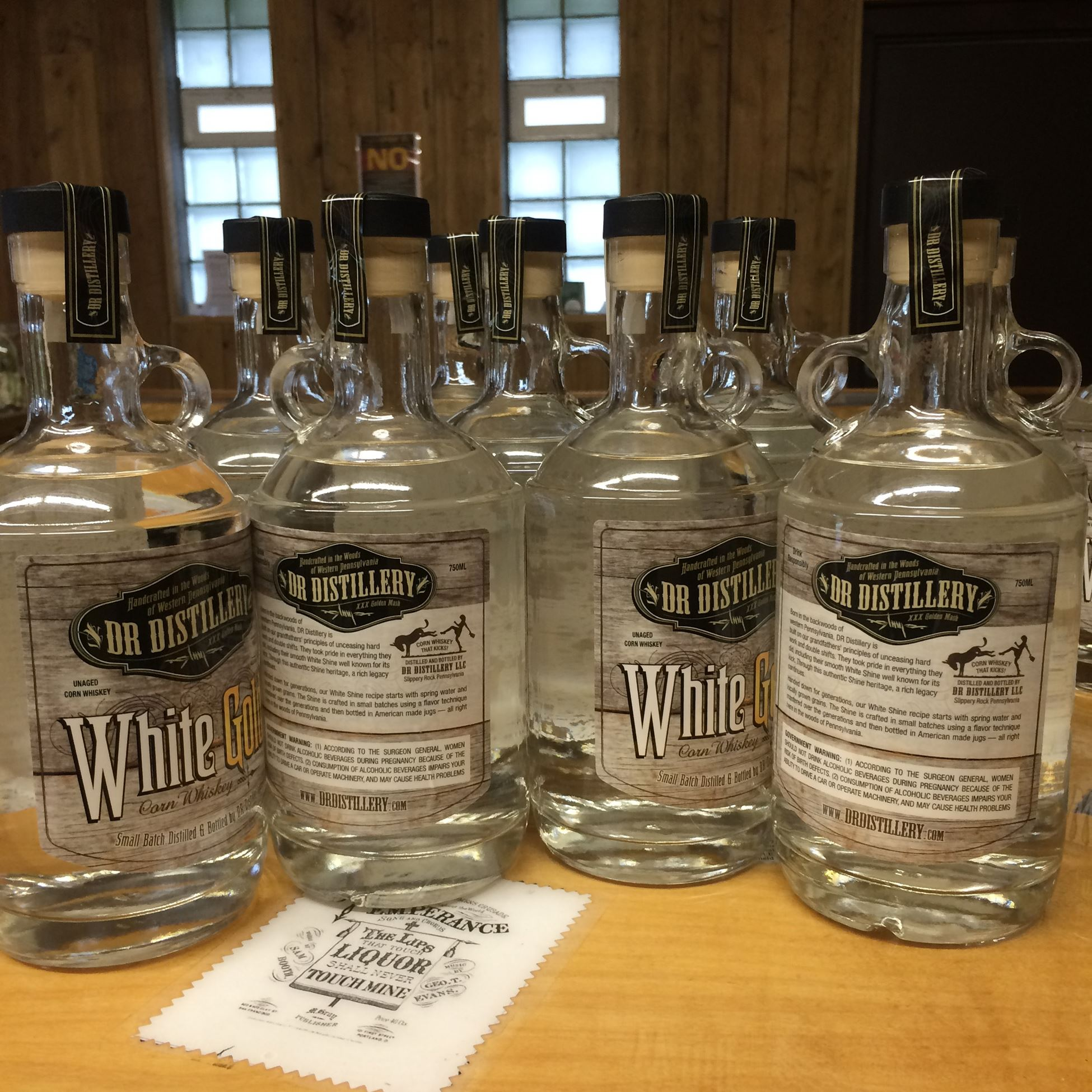 WhiteGoldBar-1 White Gold Corn Whiskey from DR Distillery in Slippery Rock, Butler County.