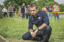 "Anthony Starr in ""Banshee,"" which is shooting its fourth and final season in Vandergrift."
