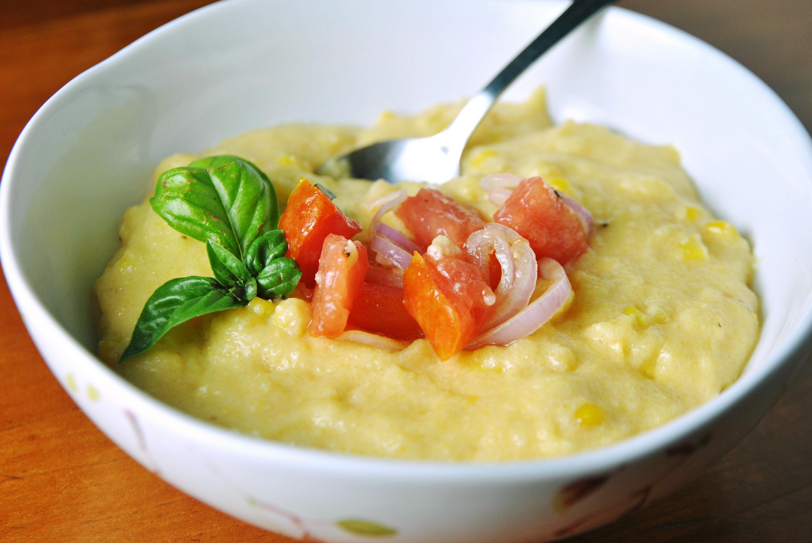... SLUG: LETSEAT0808 CAPTION: Corn Polenta with Tomato Salsa