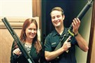 "The Facebook post showing Julie Jones and Garrett Bickmore holding weapons. ""We were not aware of this photo,"" said Pittsburgh public safety spokeswoman Sonya Toler."