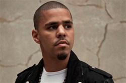 Rapper J. Cole, who headlined the First Niagara Pavilion on Thursday.
