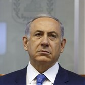 Israel's Prime Minister Benjamin Netanyahu chairs the weekly cabinet meeting Sunday in Jerusalem.