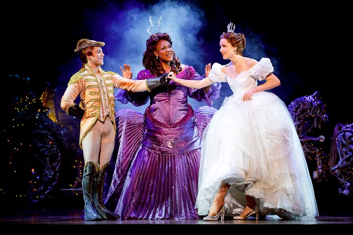 "Rodgers + Hammerstein's Cinderella Pittsburgh CLO  Adrian Arrieta, left, Kecia Lewis & Paige Faure in the national tour of ""Rodgers + Hammerstein's Cinderella,"" presented by Pittsburgh CLO at the Benedum Center Tuesday through next Sunday."