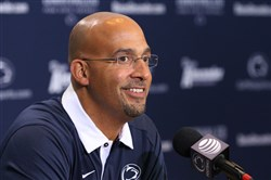 Penn State football coach James Franklin uses his school's cost of attendance stipend in recruiting pitches.