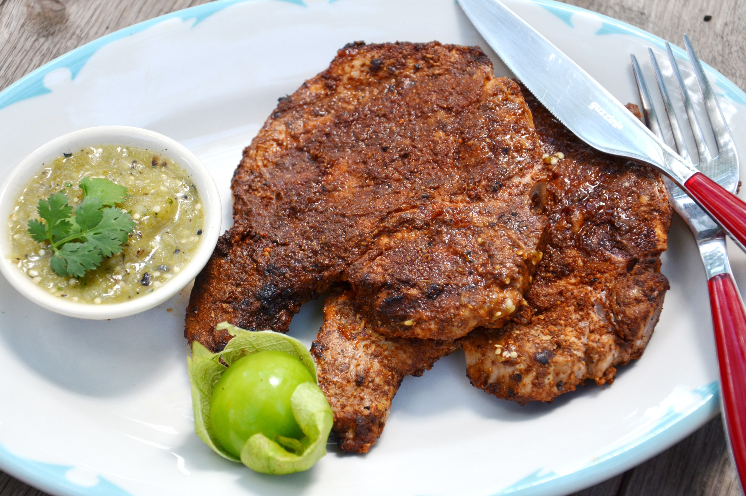 One Good Recipe: Grilled Chili-Rubbed Pork Chops