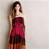 A maxi dress, like the Tarja midi dress ($319 at Anthropologie, www.anthropologie.com), simply accessorized, is one option for an al fresco function.