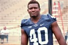 Linebacker Jason Cabinda has been thrust into a role he has seemingly always been ready for at Penn State.