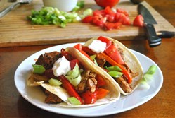 Spicy Chicken Tacos.