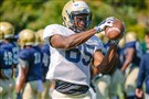 Jester Weah stood out in Pitt's scrimmage Saturday, catching five passes for 156 yards.