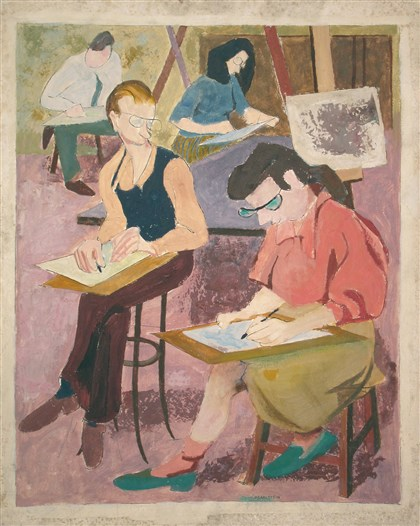 Art review: 'Pearlstein, Warhol, Cantor,' an exhibition of ... Philip Pearlstein Drawing