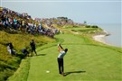 Jason Day hits off the seventh tee in the second round of the PGA Championship Friday at Whistling Straits in Sheboygan, Wis.