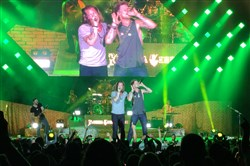 Florida Georgia Line -- Tyler Hubbard and Brian Kelley -- at the Pavilion.