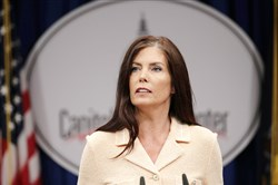 Pennsylvania Attorney General Kathleen Kane speaks Aug. 12 at the state Capitol in Harrisburg.