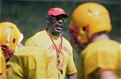 Cardinal Wuerl North Catholic coach Jason Gildon was an NFL linebacker for 11 years, 10 with the Steelers.