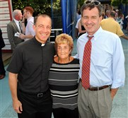 From left, Father Terry O'Connor, Judy O'Connor and Judge Hugh McGough.