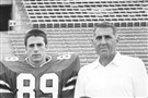 Pat Narduzzi, left, and his father Bill in 1985.