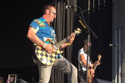 Reel Big Fish frontman Aaron Barrett at Stage AE Friday.