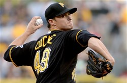 Pirates' Jeff Locke currently is penciled in as a back-end starter for the Pirates.