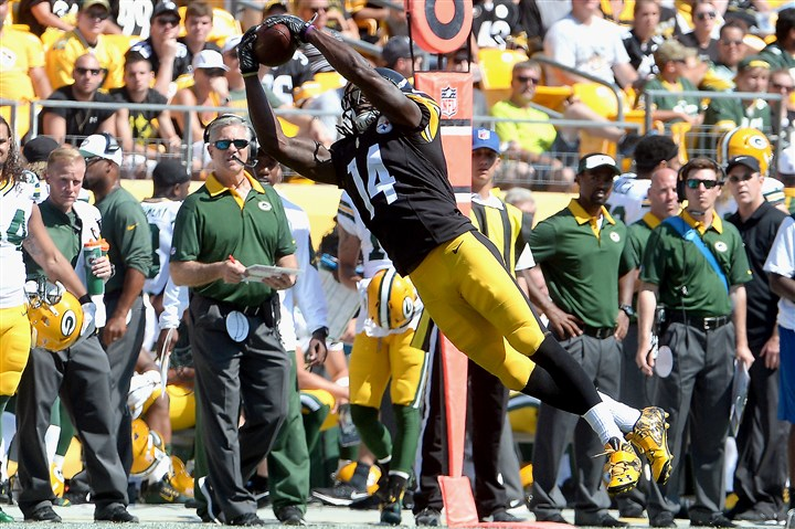 20150823mfsteelersports18-1 Rookie receiver Sammie Coates is no substitute for Martavis Bryant at this point, but the Steelers might need him early this season.