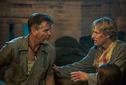 "Pierce Brosnan and Owen Wilson star in ""No Escape."""