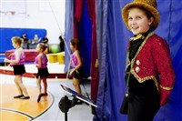 Rebecca Rapp, 9, of Regent Square, was the ringmaster of the circus held at the end of a weeklong summer camp at the Jewish Community Center of Greater Pittsburgh.