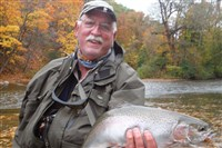 Bruce Cox of Springdale caught this nice steelhead on Elk Creek.